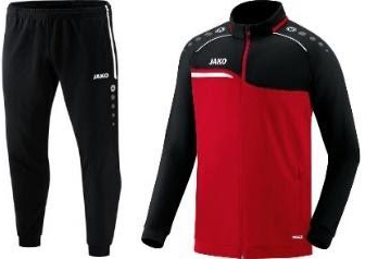 PolyesterPAK Competition 2.0 (vest + broek) rood/zwart